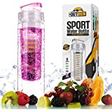 Infuser Water Bottle BPA Free For Fruits, Sport - Hard Plastic, Safe Drinking, Eco Friendly - Great For Sports...
