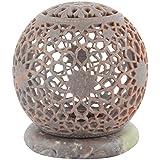 Shila Shilp Soap Stone Tea Light Candle Holder - (10.16 Cm X 10.16 Cm, Dark Violet)