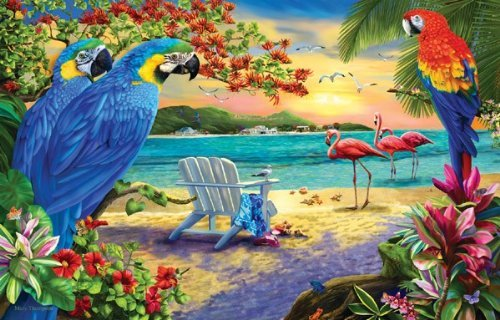 Secluded Beach 1000pc Jigsaw Puzzle