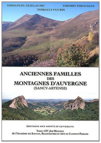 Anciennes Familles Des Montagnes D Auvergne Sancy Artense