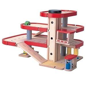 Plan Toys Wooden Parking Garage |Toy Garage | Plan City | Hip Kids
