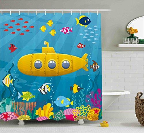 Yellow Submarine& the Fish Shower Curtain