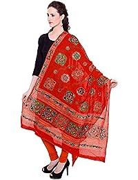 Dupatta / Stole Cotton For Women - Thread Embroidered Traditional Designer Aari Work Chakachak Dupattas - Available...