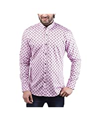 Tag & Trend Men's Slim Fit Casual And Party Wear ORCHID VIOLET Shirt By TRADIX INNOVATIONS