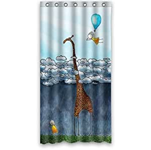 Amazon.com  Custom It giraffe Design stall mildew resistant Waterproof Bathroom Fabric Shower