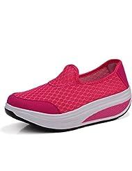 Yuanli Women S Mesh Slip On Wedge Sneakers Comfortable Platform Shoes