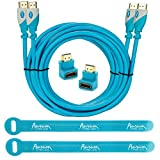 Aurum Pro Series - Pack Of 2 High Speed HDMI Cable (10 Ft) With Ethernet - Supports 3D & Audio Return Channel...