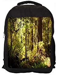 """Snoogg Small Pathway In Dense Forest Casual Laptop Backpak Fits All 15 - 15.6"""" Inch Laptops"""