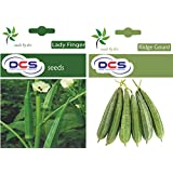 DCS Lady Finger And Ridge Gourd Seeds (2 Pack Of 50 Seeds Each)