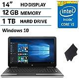 "Newest HP Pavilion 14"" Performance Laptop With Intel Dual Core I5 Processor, 12GB RAM, 1TB HDD,Webcam,WiFi,Bluetooth..."