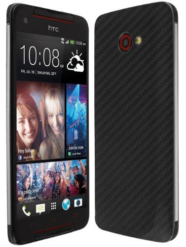 Skinomi HTC Butterfly S TechSkin Carbon Fiber Skin Case