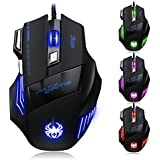 KUCHANG Professional LED Optical 7200 DPI 7 Button USB Wired Gaming Mouse Mice For Gamer Adjustable DPI Switch...