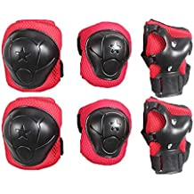 X Shop Skating Knee Elbow Wrist Protective Pads For Kids 6 PCS