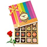 Valentine Chocholik's Belgium Chocolates - Sweet Collection Of Dark And White Truffles And Chocolate Box With...