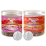 Chocholik Dry Fruits - Almonds Cheese Onion & Tangy Tomato With 5gm X 2 Pure Silver Coins - Diwali Gifts - 2 Combo...