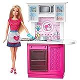 Barbie Doll And Kitchen Furniture Set, Multi Color