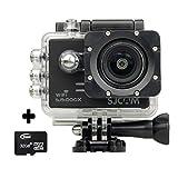 BOOMYOURS Original SJCAM SJ5000X WIFI Elite Edition Action Sport Cam Camera Waterproof Videocamera Fotocamera digitale Helmetcam(4K video @24FPS,Gyro Anti-Shake Stabilizzatore,Novatek 96660,2.0 inch LCD,12 Megapixel,Impermeabile 30 Metri)+32GB Micro SD ca