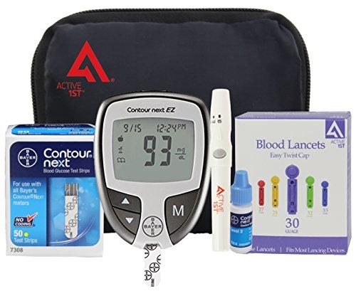 Diabetes Testing Kit (Bayer Contour NEXT EZ Meter + 50 Bayer Contour...
