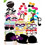 51pc DIY Mask Photo Booth Props Of Moustache On A Stick For Wedding Halloween Thanksgiving Christmas Birthday Party Favor