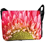Front Panel Canvas Flowers Printed Messenger Style Bag For Laptops, Notebook Computer, Fit To Most . Design No.LTB... - B00SPIC6PQ