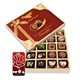 Chocholik Belgium Chocolates - 20pc Dark And Milk Chocolate Box With 3d Mobile Cover For IPhone 6 - Diwali Gifts