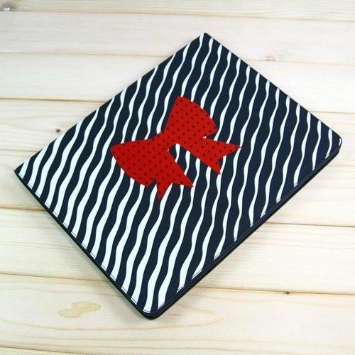【全2色】iPad+2+ケース スタンド機能付 レッド蝶デザインレザーケース ブラック Leather+Case+for+iPad+2+(1524-2)