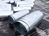 100 Square Feet of Galvanized sheet metal rolls ideal for roofing, siding, duct work etc 11811