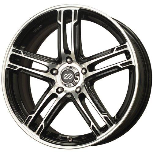 16×7 Enkei FD-05 (Black / Machined) Wheels/Rims 5×114.3 (434-670-6538BKM)
