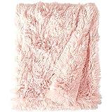 BESSIE AND BARNIE Pet Blanket, Medium, Bubble Gum/Bubble Gum Without Ruffle