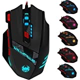 [2016 New Version] Zelotes T90 Professional 9200 DPI High Precision USB Wired Gaming Mouse,8 Buttons,With 7 Kinds...