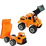 Dump Truck And Bulldozer Two Piece Construction Set Construction Vehicles, Dump Truck And Bulldozer Two Piece...