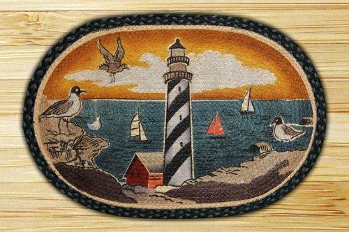 New England Lighthouse Rug