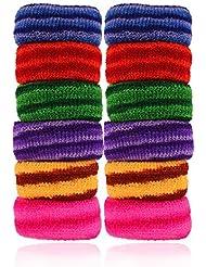 AccessHer Soft Multicolor Rubber Hair Band - Set Of 12 Pcs. - B01JUI5DSG