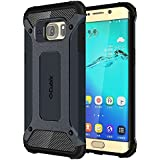 Cubix Impact Hybrid Armor Defender Case For Samsung Galaxy S6 Edge+ (Navy Blue)