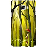 For Samsung Galaxy C5 Beautiful Little Girl ( Beautiful Little Girl, Little Girl, Tree, Jungle, Water, Red Umbrella, Umbrella ) Printed Designer Back Case Cover By FashionCops