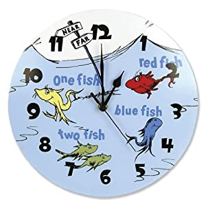 Dr Seuss One Fish Two Fish, Red Fish Blue Fish Clock