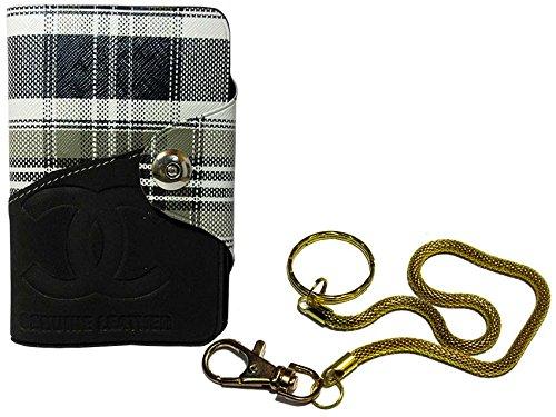 Apki Needs Long Black Mens Wallet & Beautiful Beautiful Golden Chain Keychain Combo