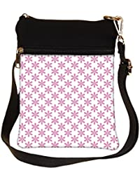 Snoogg Colorful Mixed Circles Cross Body Tote Bag / Shoulder Sling Carry Bag