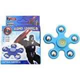 Anoop New Latest Fidget Spinner Hand Rotate Toy (Blue)