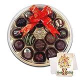Scrumptious Chocolates Gift Box With Birthday Card - Chocholik Belgium Chocolates