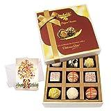 Chocholik Luxury Chocolates - Cute Combination Of White Chocolates With Birthday Card