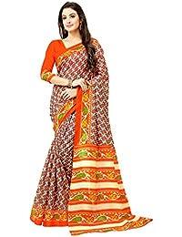 Glory Sarees Bhagalpuri Art Silk Saree(gloryart6_orange)