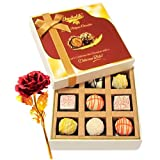 Melting Moment Choco Surprise With 24k Red Gold Rose - Chocholik Luxury Chocolates