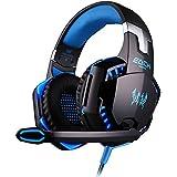 DIZA100 KOTION EACH G2000 Over-ear Game Gaming Headphone Headset Earphone Headband With Mic Stereo Bass LED Light... - B019IHTQYQ