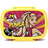 Mattel Barbie Princess Power Plastic Lunch Box, 500ml, Multicolour