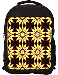 """Snoogg Yellow Sunflower Casual Laptop Backpak Fits All 15 - 15.6"""" Inch Laptops - B01C8JQJB4"""