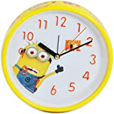 Minions Limited Edition PREMIUM Wall Clock / Alarm Clock / Table Clock With Stand (3 In 1 ) 16 Cms Dia X 4 Cms...