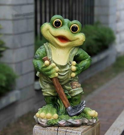 Frosch XL 29 cm Hoch  Design 11151-4 Deko Garten Gartenzwerg Figuren Dekoration