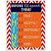 The Kids Room By Stupell Textual Art Wall Plaque, Before You Speak Think