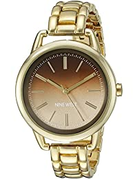 Nine West Women's NW/1810BNGB Analog Display Japanese Quartz Gold Watch